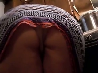 Kitchen Mom Upskirt