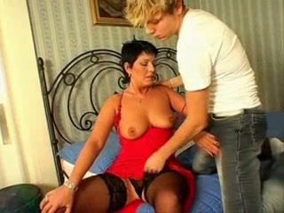 Hot Russian Milf and Young dude