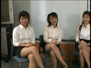 Group pantyhose footjob