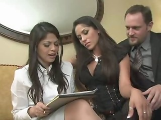 Amazing  Secretary Threesome