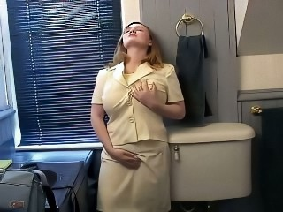 Chubby Masturbating Natural Solo Toilet
