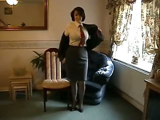 Teasing Milf In Nylon Stockings And Heel...