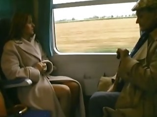 "French Papy & mature slut in the train"" target=""_blank"