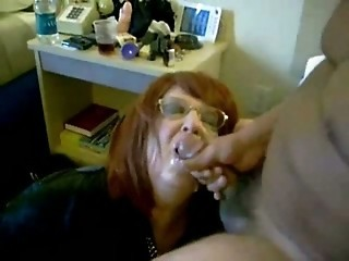 Amateur Cumshot Glasses Interracial Mature Swallow Wife
