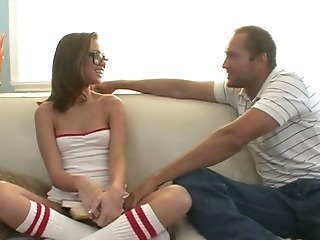 Amazing Babysitter Glasses Small Tits Teen