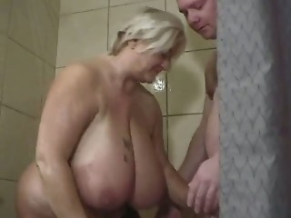 Amateur Bathroom  Big Tits Mature