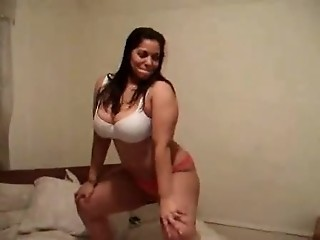 CHUBBY STRIPPING AND DANCING