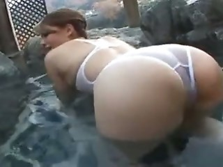 Asian Ass Babe Japanese Outdoor Pool