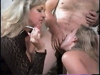 Blowjob  Smoking Threesome