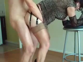 Crossdresser being fucked