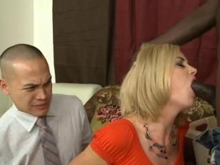 Asian hubby watches her wife with BBC
