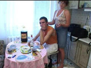 Amateur Drunk Kitchen Mature Mom Old and Young