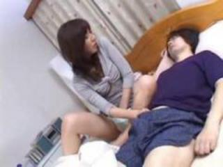 Asian Japanese  Mom Sleeping