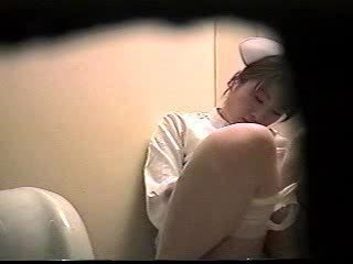 Japanese Nurse Caught Masturbating In Toilet - Hidden Voyeur Spycam Sex Tubes
