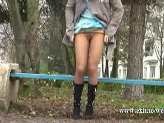 Outdoor Pissing Public Teen