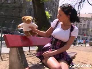 Hot Hungarian With Great Tits Plays The Innocent Litt...