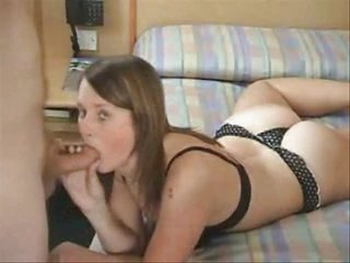 Blonde Blowjob Lingerie Teen