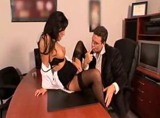 Asian secretary fucked by his boss in excess of someone's skin desk