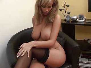 Babe Big Tits Cute Natural Stockings