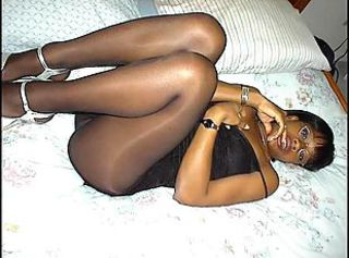 Amateur Ebony Homemade Legs  Pantyhose