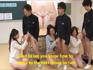 Asian Groupsex Handjob  School