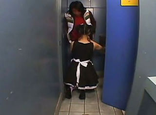 Asian Blowjob Maid Toilet Uniform