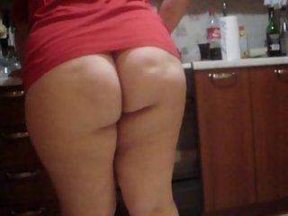 Amateur Ass Homemade Kitchen Mature Wife