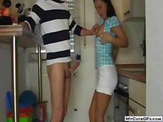 Amateur Girlfriend Kitchen Teen