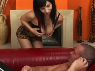 Juciy natural confidential unaffected by a young brunette