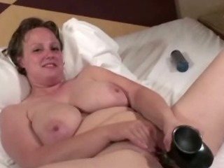 Big Tits Chubby Masturbating  Natural Toy