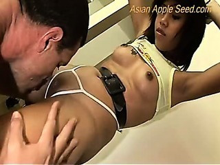 Asian Babe Licking Panty Thai