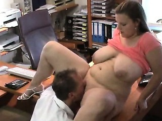 Chubby Licking  Office