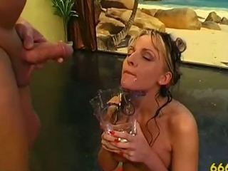 Fetish watersports out applicable messy in golden piss