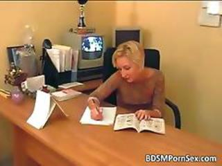 Blonde  Office Secretary