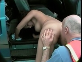 Ass Car Licking Old and Young Outdoor