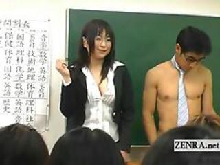 Subtitled Clothed Japanese Teacher On Nude Tutor Old hat modern