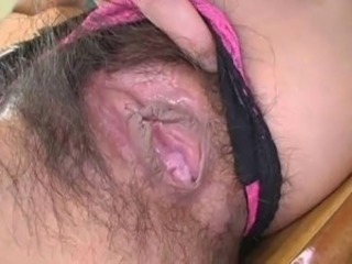 Pretty dominate Japanese teacher's hot hairy cunt creampied