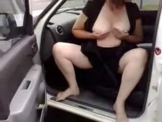Exhibition in public of my pervert mature wife. Amateur