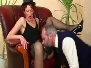 Licking Mature Stockings