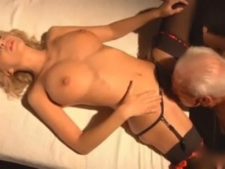 Blonde Licking Old and Young Stockings