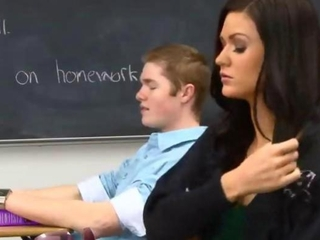 Young man effectuation with subtle classmate