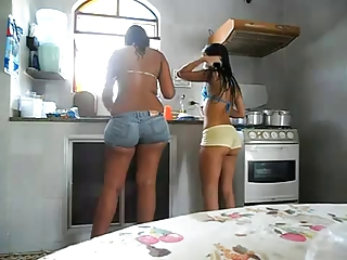 Adorable Latinas in Tight Shorts