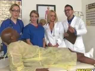 Doctor Glasses Interracial Nurse Teen Uniform