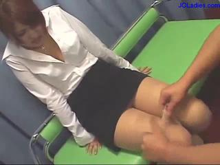Shy Office Lady Getting Her Pussy Stimulated And..