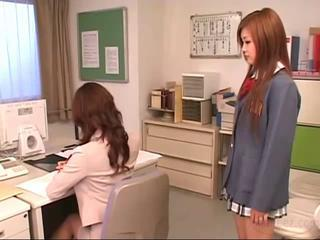 Asian Cute Japanese Lesbian Teacher Teen Uniform