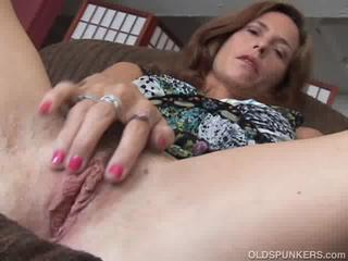 Mature redhead fucks their way pussy plus asshole