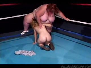 Huge Boob Bbw Wrestles A Midget Girl Then Fucks Her midget dwarf cumshots swallow by Istanya8901