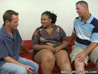 Ebony Interracial  Threesome
