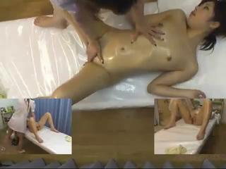 Asian HiddenCam Massage Oiled Teen Voyeur