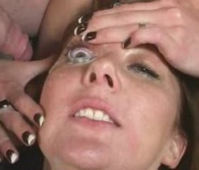 British slut Jenny Loveitt wants cum on her eyeball